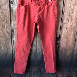 Old Navy The Rock Star Size 10 Coral Jeans